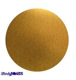 Unger Unger - Sturdy cake board - round, Gold (box of 10) -