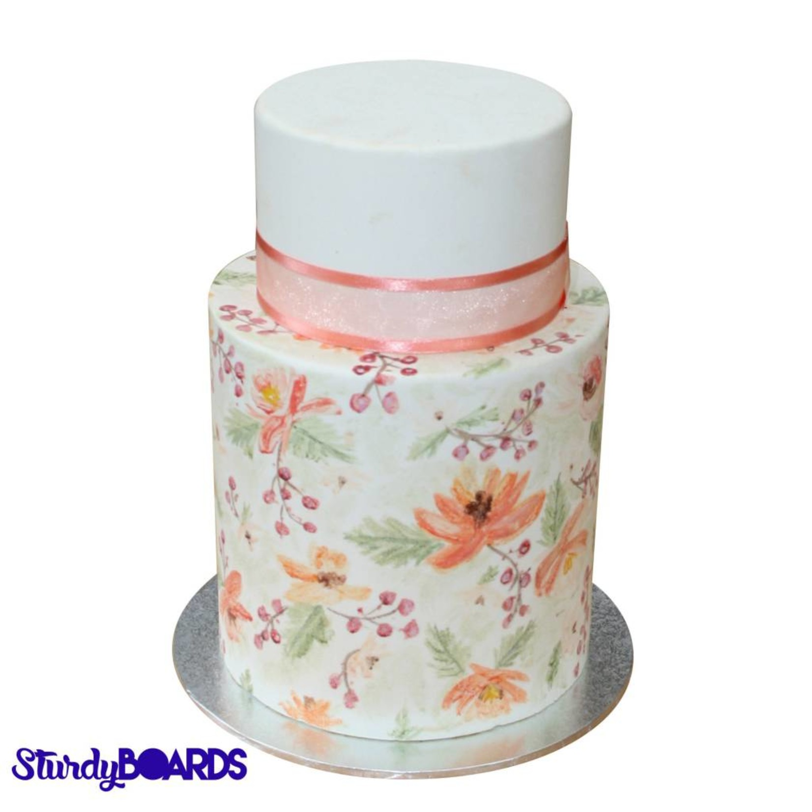 Unger Unger - Sturdy cake board - round, Silver -
