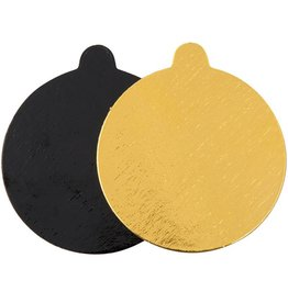 Enjay Enjay - Mono board - round, Gold and Black reversible - 4'' (500ct)