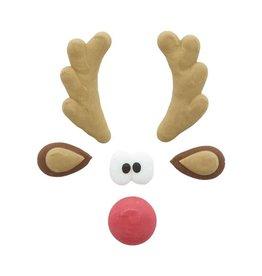 Leman Leman - Rudolph Face, sugar - 3.5x2.5cm (40ct), 14364
