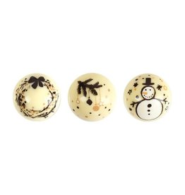 Leman Leman - Chocolate Christmas Balls, White - 2.8cm (96ct), 14740