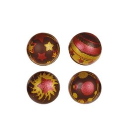 Leman Leman - Chocolate Christmas Balls, Dark - 2.8cm (96ct), 34702
