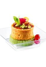 Sweet Flavor Plasticware - Mini Plasticware Plate, Clear - 2.6'' (400ct), DD03200