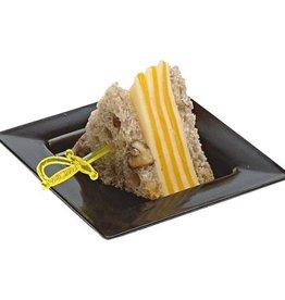 Sweet Flavor Plasticware - Mini Plasticware Plate, Black - 2.9'' (200ct), DD30303