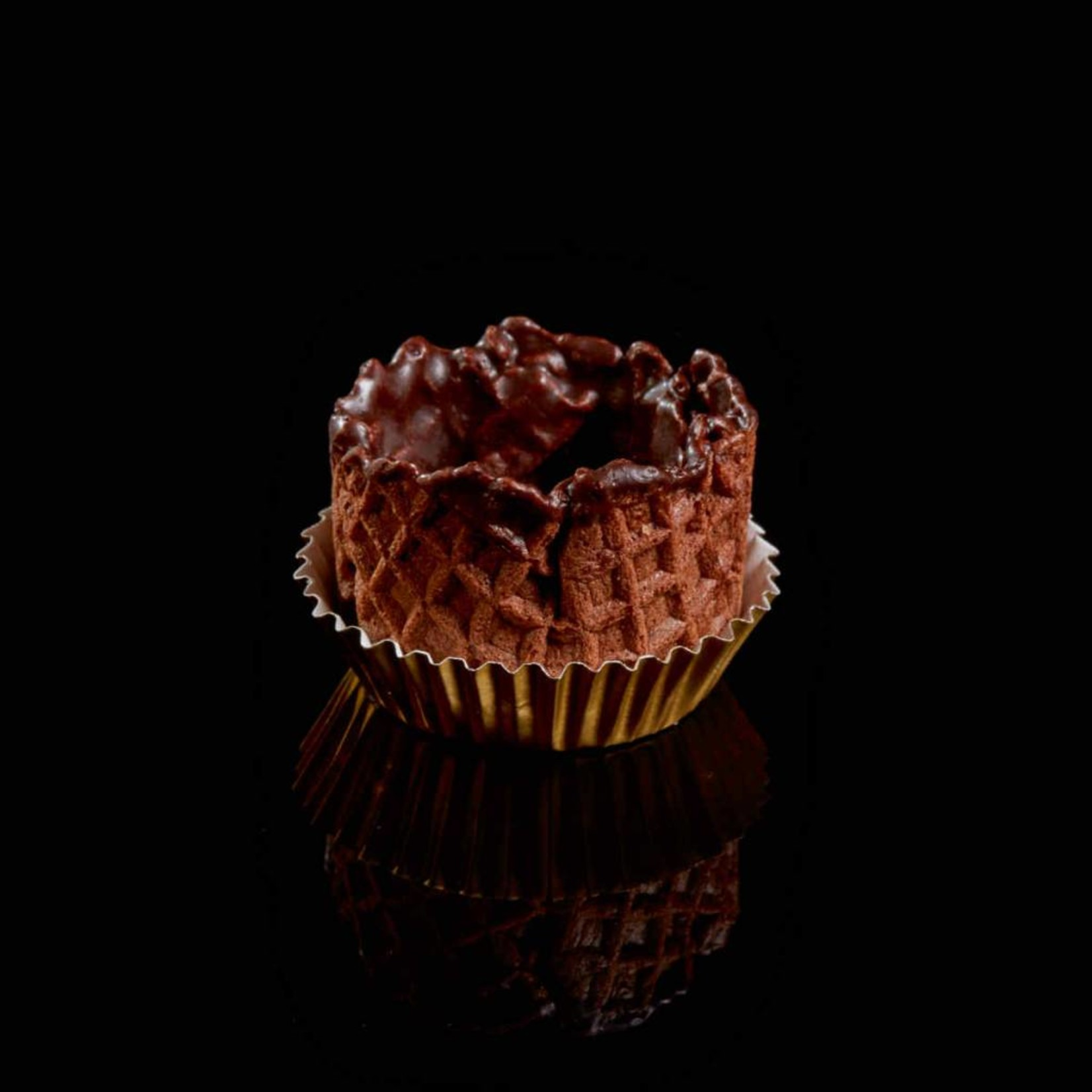 Delifrance Delifrance - Waffle Basket, Chocolate - 1.5'' (126ct), 78459