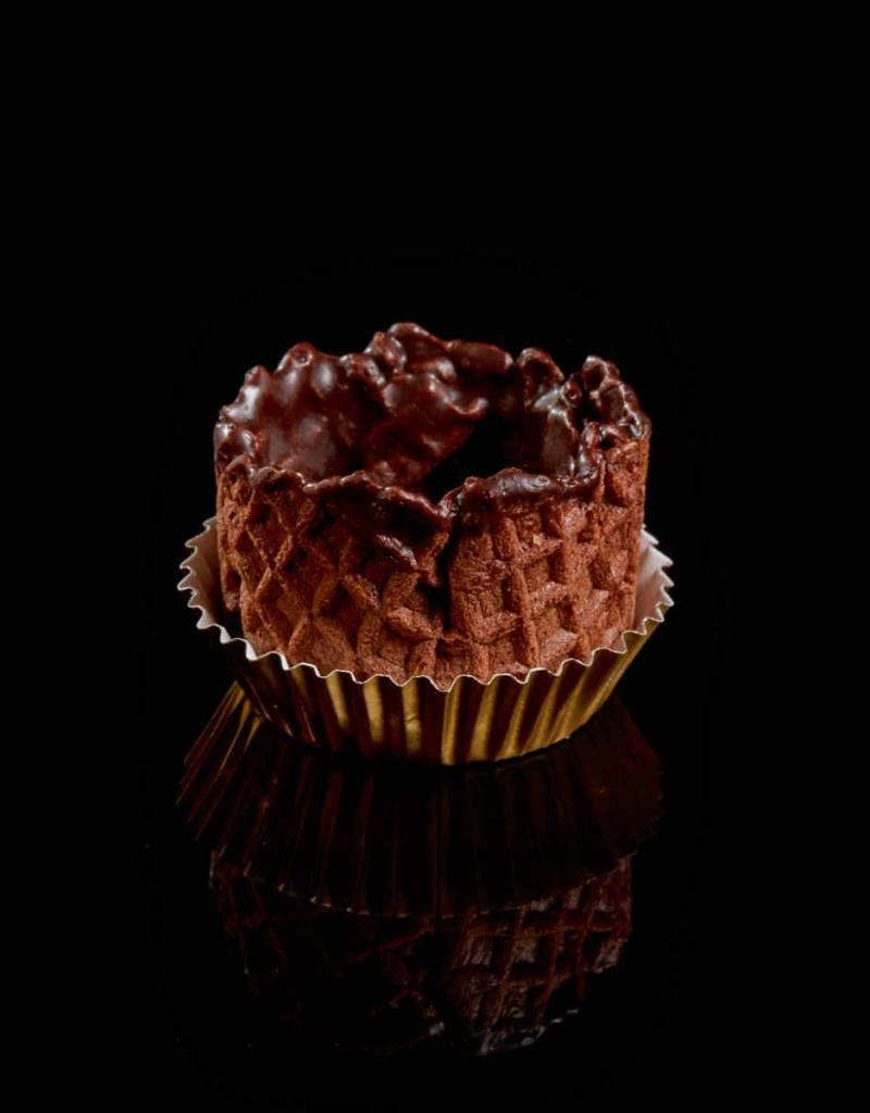 Delifrance Delifrance - Waffle Basket, Chocolate - 1.5'' (42ct) sleeve, 78459-S