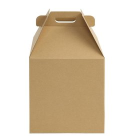 Whalen Whalen - Cake box - Kraft Corrugated w/window - 14x14x16''