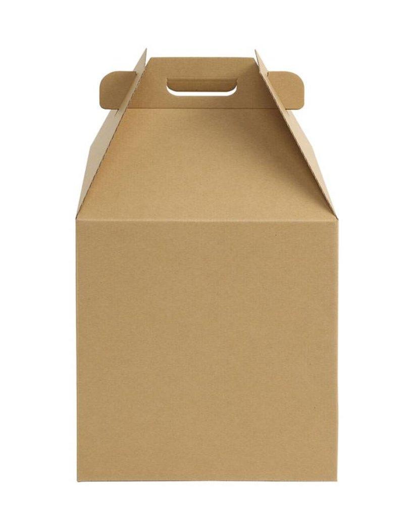 Whalen Whalen - Cake box - Kraft Corrugated w/window - 14x14x16''