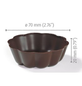 Dobla Dobla - Turban, Fluted Dark Chocolate Vessel (84ct), 11220