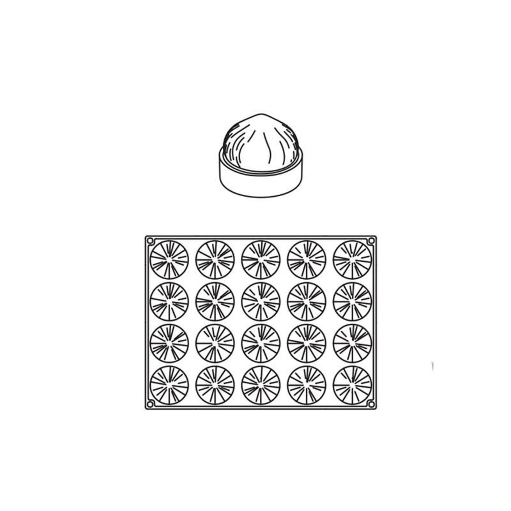 Pavoni Pavoni - Pavoflex silicone mold, Hazelnut (20 cavity), PX4358