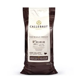 Callebaut Callebaut - 60-40 Dark Chocolate 60.1% - 10kg/22lb, 60-40-38NV-595