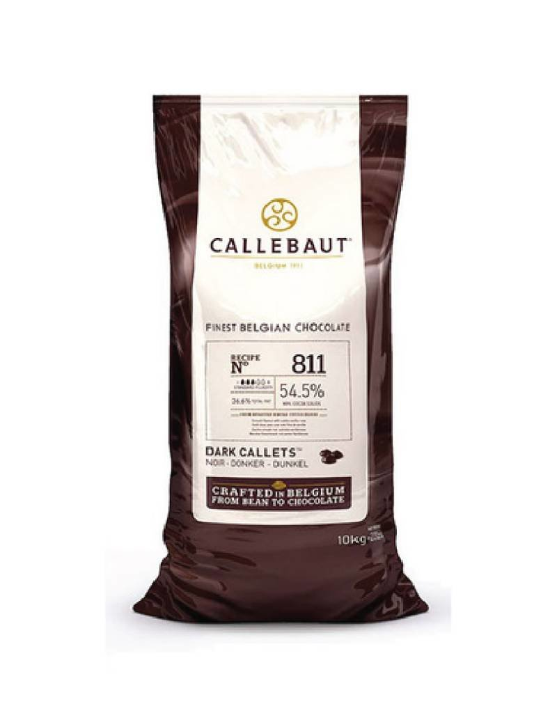 Barry Callebaut Barry Callebaut - 811 Dark Chocolate 54.5% - 10kg/22lb, 811NV-595