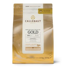 Barry Callebaut Barry Callebaut - Gold Caramel White Chocolate 30.4% - 2.5kg/5.5lb, CHK-R30GOLD-2B-U75