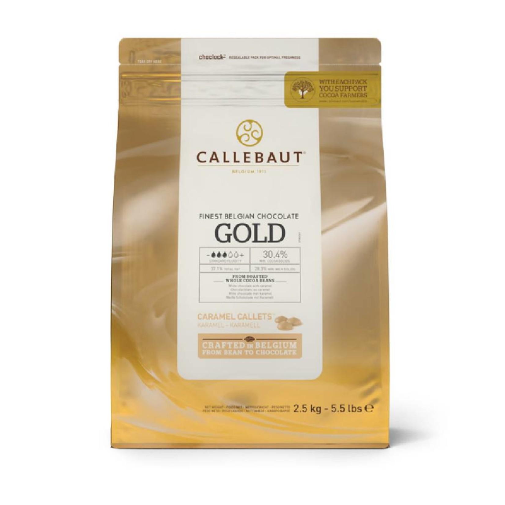 Barry Callebaut Barry Callebaut - Gold Caramel White Chocolate 30.4% - 2.5kg/5.5lb, CHK-R30GOLD-2B-U75