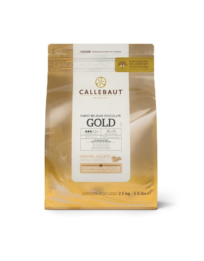 Callebaut Callebaut - Gold Caramel White Chocolate, 30.4% - 2.5kg/5.5lb, CHK-R30GOLD-2B-U75