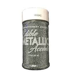 Confectionery Arts Confectionery Arts - Nonpareils, Metallic Silver - 3oz