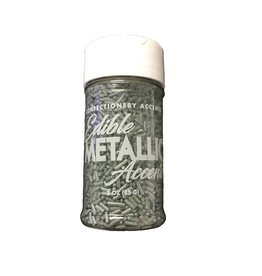 Confectionery Arts Confectionery Arts - Sprinkles, Metallic Silver - 3 oz
