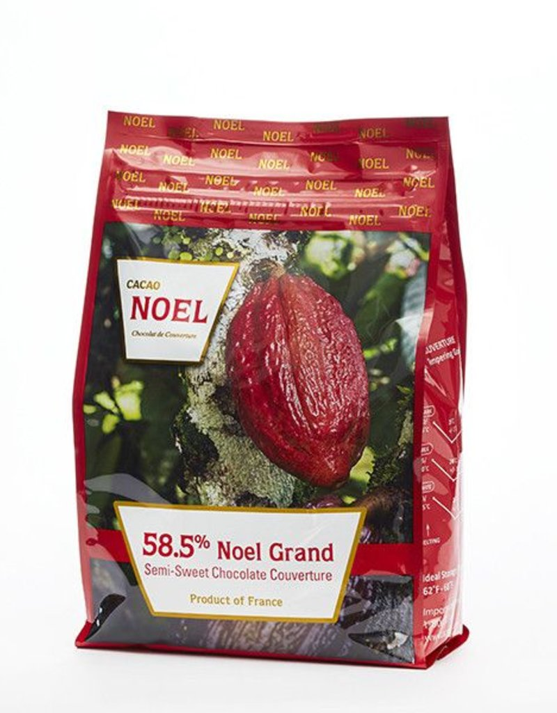 Cacao Noel Noel - Grand Dark Chocolate 58.5% - 11 lb, NOE106