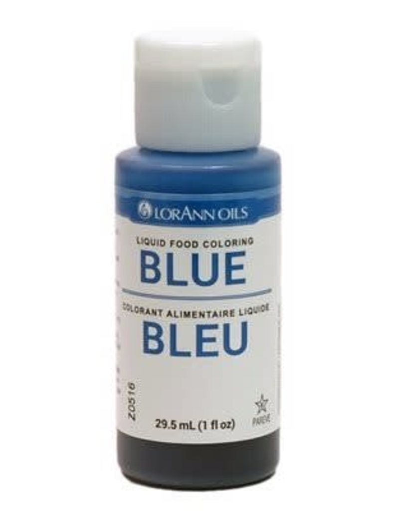 Lorann Lorann - Blue Liquid Food Color - 1 oz, 1020-0500