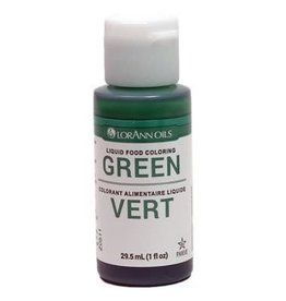 Lorann Lorann - Liquid Food Color, Green - 1 oz, 1050-0500