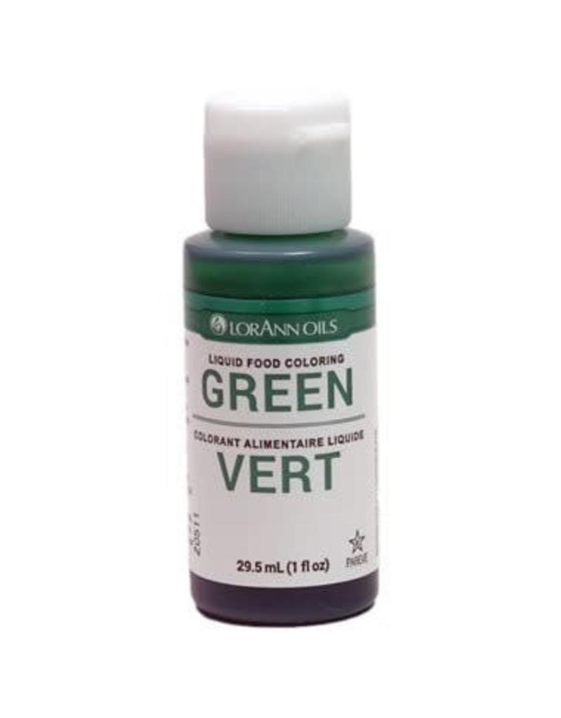 Lorann Lorann - Liquid Food Color, Green - 1 oz, 1050-0500