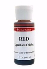 Lorann Lorann - Red Liquid Food Color - 1 oz, 1100-0500