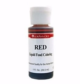 Lorann Lorann - Red Liquid Food Color - 1 oz, 1100-0500