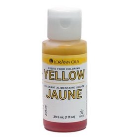 Lorann Lorann - Liquid Food Color, Yellow - 1 oz, 1120-0500