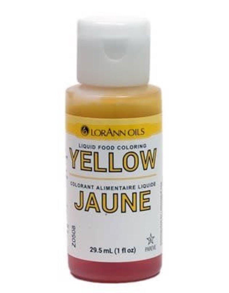 Lorann Lorann - Yellow Liquid Food Color - 1 oz, 1120-0500