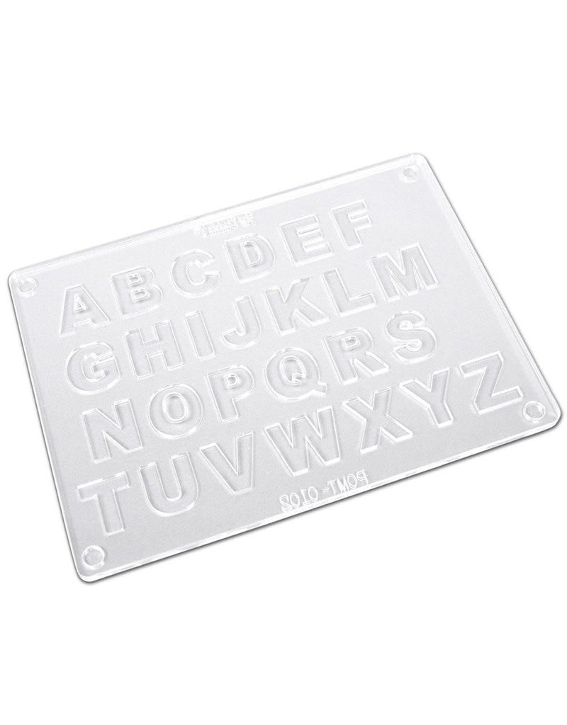 "Fat Daddios Fat Daddios - Polycarbonate Mold, Two piece Alphabet - 7/8"", PCMT-0102"