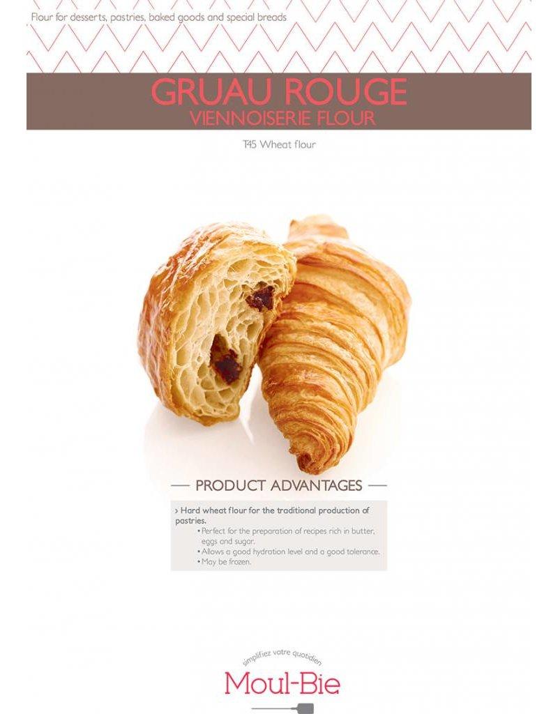 Moul-Bie Moul-Bie - Gruau Rouge Viennoiserie T45 flour - 25kg/55lb, 4729