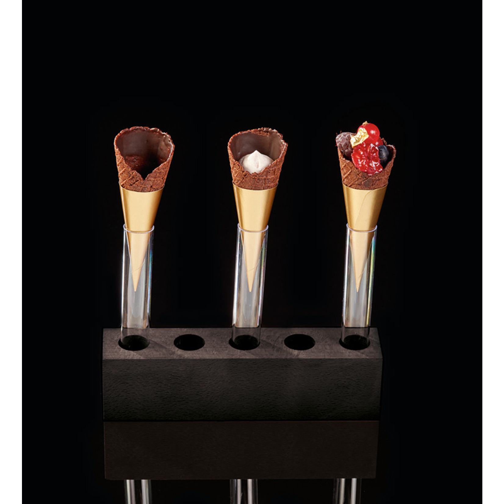 Delifrance Delifrance - Waffle Cone, Chocolate - 2.9x1.1'' (63ct), 78457
