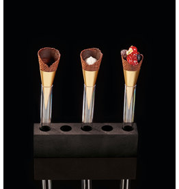Delifrance Delifrance - Micro cone, Chocolate/foil cup - 2.9x1.1'' (63ct), 78457