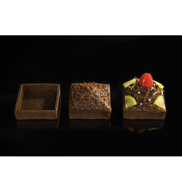 Delifrance Delifrance - Tart shell, square, Chocolate - 3'' (60ct), 79038
