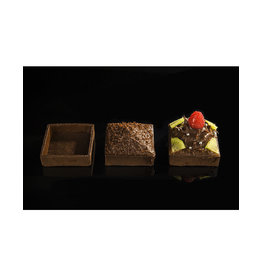 Delifrance Delifrance - Tart shell, Chocolate square - 3'' (12ct) sleeve, 79038-S