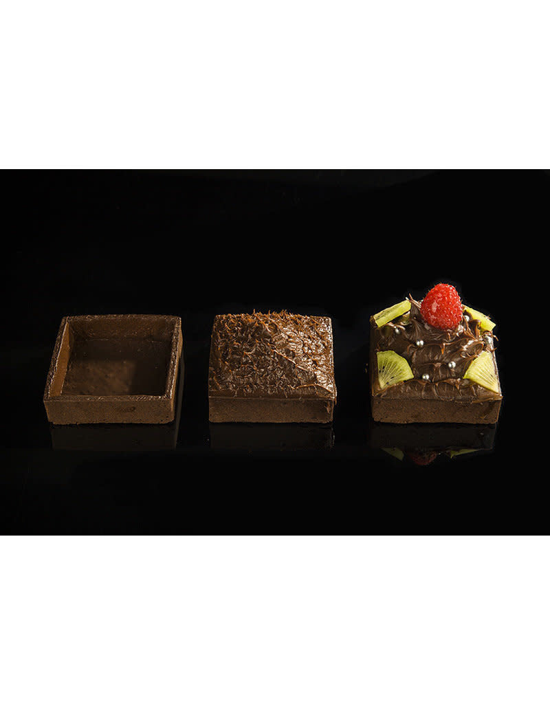 Delifrance Delifrance - Tart shell, square, Chocolate - 3'' (12ct) sleeve, 79038-S