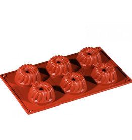 Pavoni Pavoni - Formaflex silicone mold, Mini Guglhupf (6 cavity), FR046