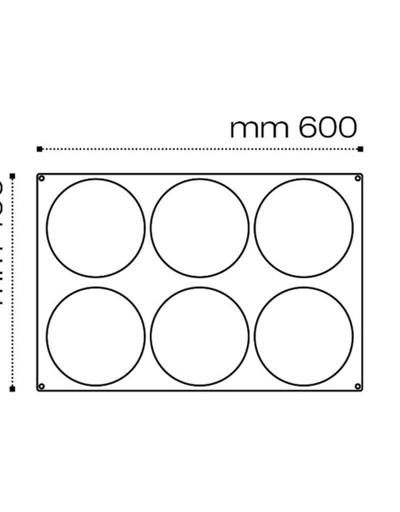 Pavoni Pavoni - Pavoflex silicone mold, Inserimento, (6 cavity), PX075