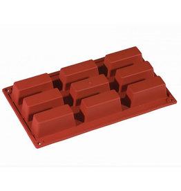 Pavoni Pavoni - Formaflex silicone mold, Large Financier (9 cavity), FR028
