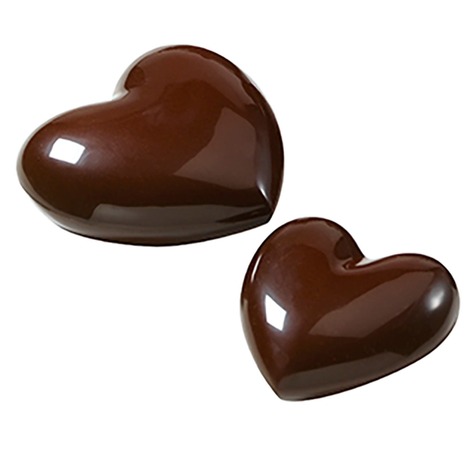 Cacao Barry Cacao Barry - Tritan Chocolate Mold - Heart, 8x10cm (4 cavity), MLD-090517-M00