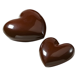 Cacao Barry Cacao Barry - Polycarbonate Chocolate Mold - Heart, 8x10cm (4 cavity), MLD-090517-M00
