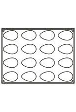 Pavoni Pavoni - Pavoflex silicone mold, Mono Quenelle (16 cavity), PX4369