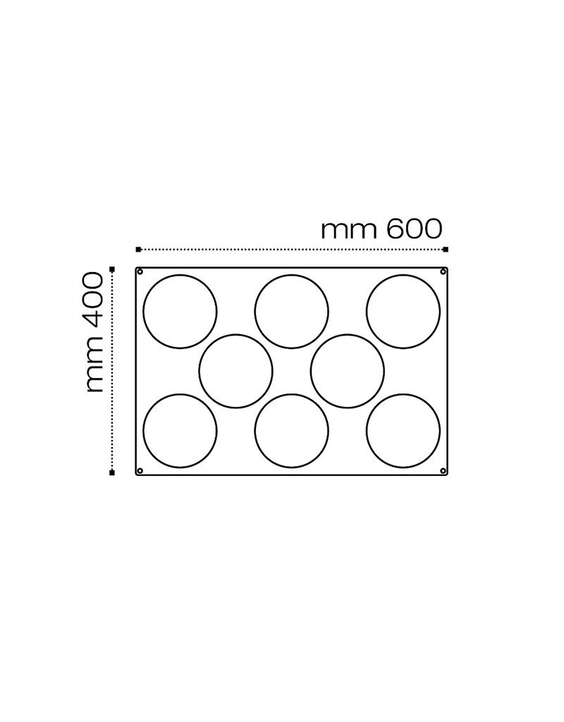 Pavoni Pavoni - Pavoflex silicone mold, Inserimento, (8 cavity), PX076