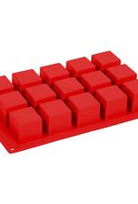 Pavoni Pavoni - Formaflex silicone mold, Cubo (15 cavity) FR103