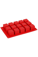 Pavoni Pavoni - Formaflex silicone mold, Cubo (15 cavity) FR103