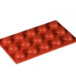 Pavoni Pavoni - Formaflex silicone mold, Semisfera (15 cavity) FR003