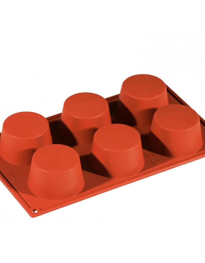 Pavoni Pavoni - Formaflex silicone mold, Muffin (6 cavity), FR008
