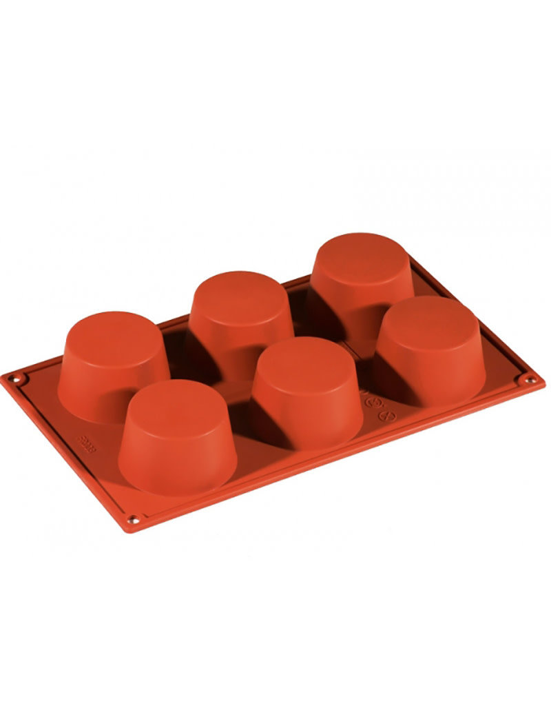 Pavoni Pavoni - Formaflex silicone mold, Muffin (6 cavity), FR008