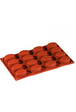 Pavoni Pavoni - Formaflex silicone mold, Mini Ovale (16 cavity), FR009