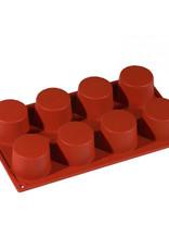 Pavoni Pavoni - Formaflex silicone mold, Cilindro (8 cavity), FR017
